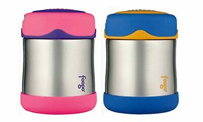 NEW THERMOS FOOGO 290ml STAINLESS STEEL FOOD JAR Container Insulated BLUE PINK