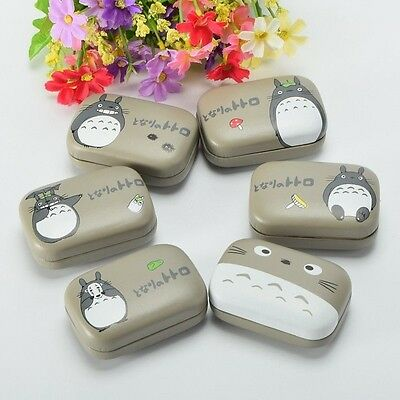 Japanese Anime My Neighbot Totoro Contact Lenses Cases Totoro Boxes Cosplay Prop