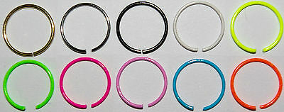 Open Septum Eyebrow Ear Nose Lip Body Ring Hoop Piercing 316L Steel 925 Silver