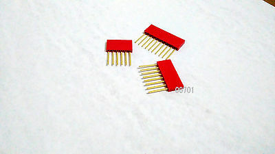 40x Stackable Shield Female Header 6p&8p10p pin header connector for Arduino Red
