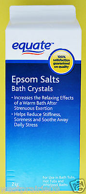 2 kg Equate Epsom Salts Bath Crystal For Relaxing Mineral Bath USP Sooth Stress