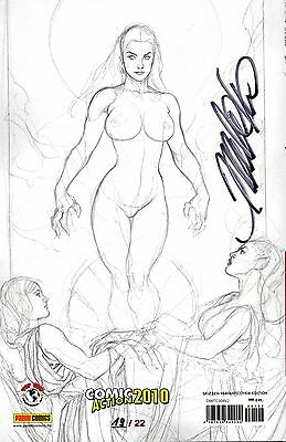 WITCHBLADE TPB #4 deutsch SKETCH-VARIANT 19/22 FRANK CHO lim.22 Ex. NUDE  signed