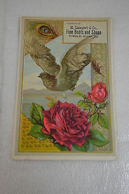 Oshkosh, WI, M. Lampert & Co. Fine Boots & Shoes Advertising Trade Card 900-3#57