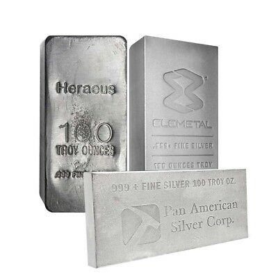 100 oz Generic Silver Bar .999 Fine (IRA-approved)