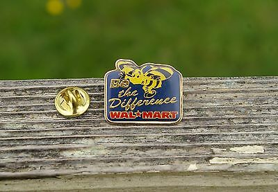 Wal-Mart Be The Difference Bee Metal & Enamel Employee Lapel Pin Pinback