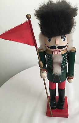 """Wood Painted Nutcracker - World Soldier Collection - 14"""" Green Painted Jacket"""