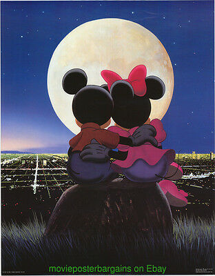 Mickey Mouse And Minnie Mouse Poster 1980's One Stop Posters Print Wd-46 Disney