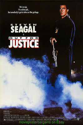 OUT FOR JUSTICE MOVIE POSTER DS 27x40 V.F. ROLLED ORIGINAL STEVEN SEGAL 1991
