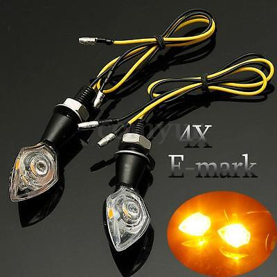 4x UNIVERSAL MOTORBIKE MOTORCYCLE LED TURN SIGNAL INDICATOR LIGHT BLINKER E-MARK