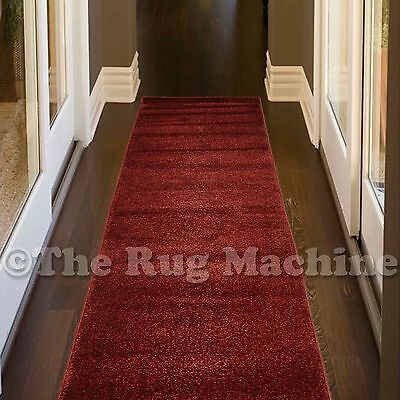 PURE RUST RED PLAIN SIMPLE STYLE ELEGANT MODERN RUG RUNNER 80x400cm **NEW**