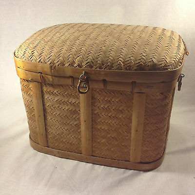 Bamboo Hand Woven Decorative Chest/Basket