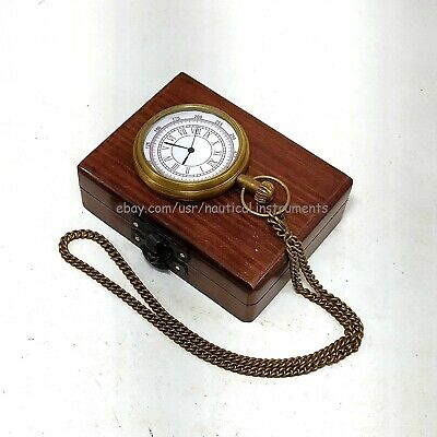 Vintage Antique Brass Titanic Pocket Watch Collectible & Nautical Clock Gift