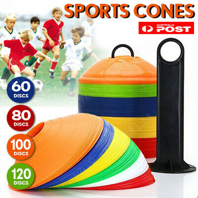 Pack Sports Training Discs Markers Cones Soccer Afl Exercise Personal Fitness Au