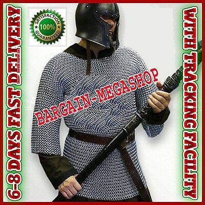 Aluminium Chainmail Shirt Butted Medieval Chain Mail Haubergeon Armour Costumes