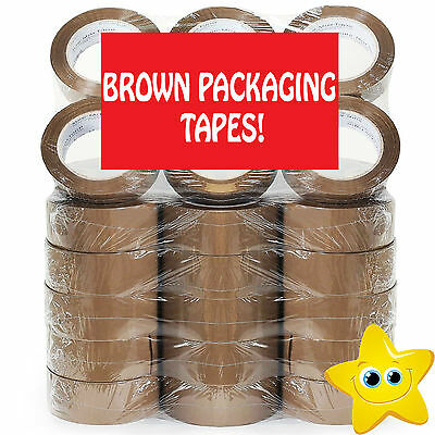 TAPE Rolls Of Brown STRONG Parcel Tape Packing sellotape Packaging 48mm x 66m