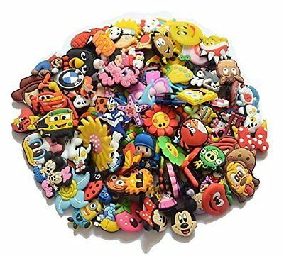 100pcs PVC Different Shoe Charms for Croc & Bracelet Wristband Kids Party Gifts