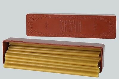 Official candles of the Russian Orthodox Church. wax candles. 30 pieces.