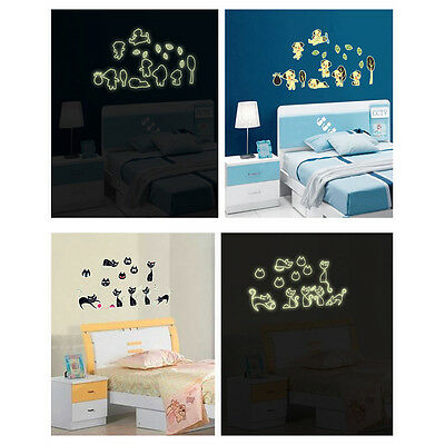 Autocollant Sticker Fluorescent lumineux Chat Vinyl Art Decor Pr Enfant Chambre