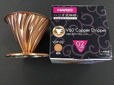 New Hario VDP-02CP VDP-02 V60 Coffee Dripper Copper Drip 1-4 Cups from JAPAN