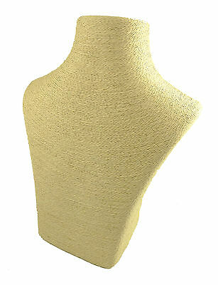 NEW Cream Jewellery Rattan Weave Style Display Neck for Necklaces 30cm x 22.5cm