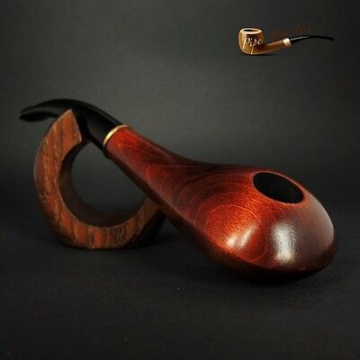 "HAND MADE UNIQUE   WOODEN TOBACCO  SMOKING PIPE ""Saturn""   Artisan Job"