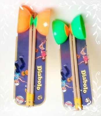 Brand new Retro Traditional Circus Diablo Juggling Set With Sticks Toy Game Fun