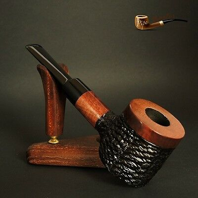 "HAND MADE UNIQUE  WOODEN  TOBACCO SMOKING PIPE Poker "" No 63 "" Brown"