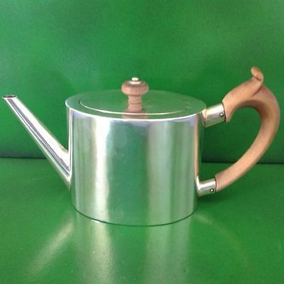 William Grundy Georgian Antique English Sterling Silver Teapot London 1777