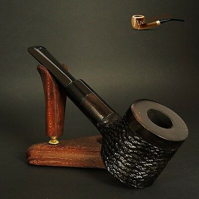 "HAND MADE UNIQUE WOODEN  TOBACCO SMOKING PIPE Poker   "" No 63 "" Black"