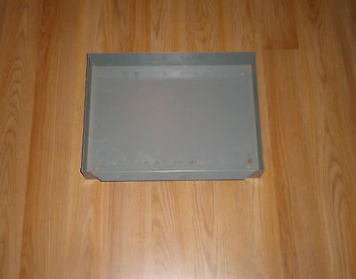 "Industrial Metal Gray Drawer 16"" X 12"" X 2 3/8"""