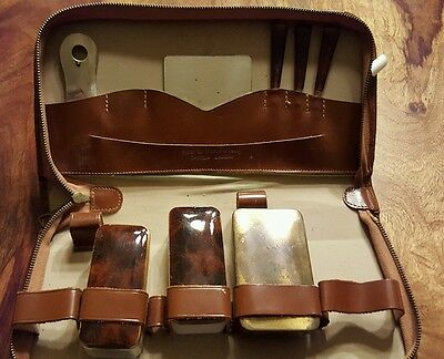 Rare Shoe shine genuine leather vanity (west germany)