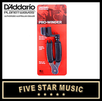 Planet Waves Dp0002 Pro Winder Guitar String / Peg Winder Cutter Tool - New