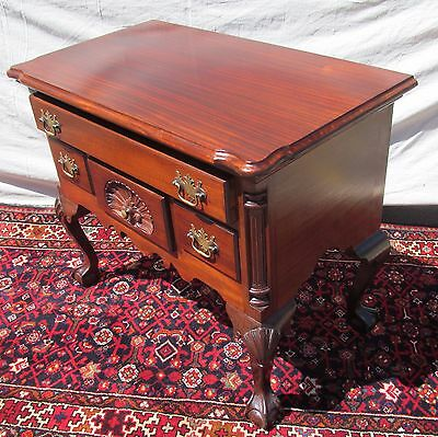 Chippendale Mahogany Philadelphia Style Shell Carved Lowboy