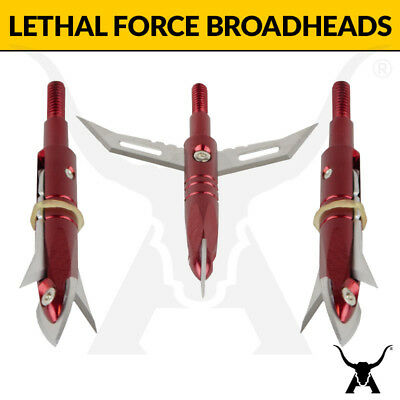 Apex Hunting Lethal Force Mechanical Broadhead - Open on Impact Bladed Arrow Tip