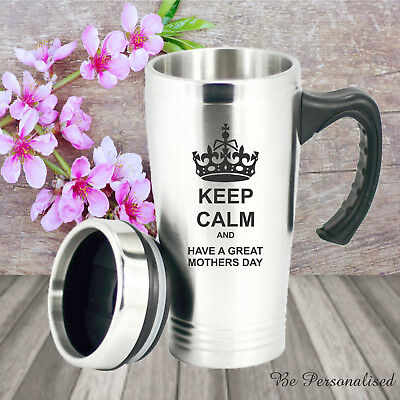 Personalised Mothers Day Travel Mug Engraved Gift Present Mum Nan Wife Coffee