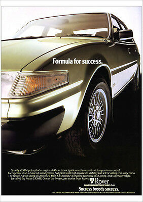 ROVER SD1 3500 SE V8 RETRO A3 POSTER PRINT FROM CLASSIC 70's ADVERT
