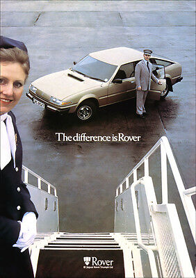 ROVER SD1 3500 V8 RETRO A3 POSTER PRINT FROM CLASSIC 70's ADVERT