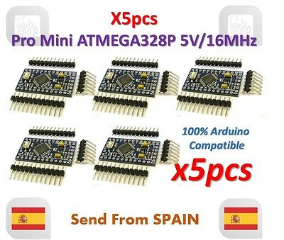 5pcs Pro Mini ATMEGA328P 5V 16MHz Module with Bootloader Pin Header for Arduino