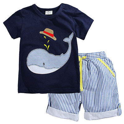 Baby Toddler Children Boys Clothes New Short sleeve T-shirt+Shorts Sets Outfits