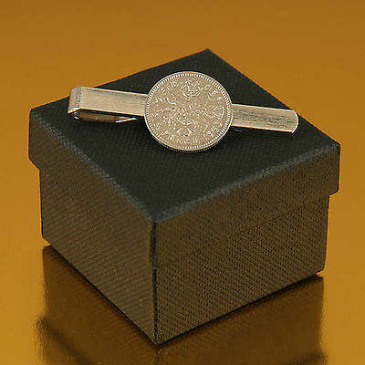 Lucky Sixpence Tie Slide 1910 - 1919 in gift box