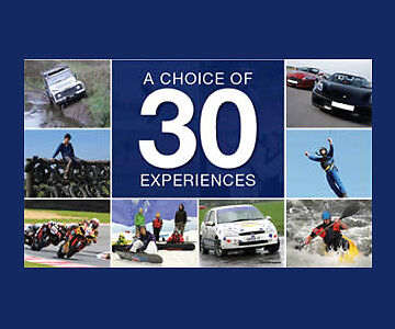 30 Thrilling Experience Gift Choices - valid min. 9 months from issue