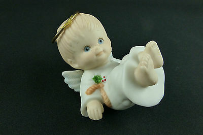 Ruth Morehead Holly Babes Tumbling Angel Boy Figurine AS IS Repaired 1987