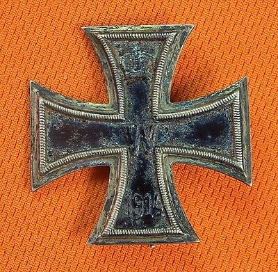 German Germany WWI WW1 Silver Iron Cross Medal Order Badge