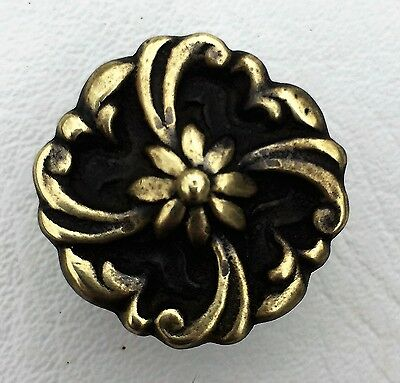 Flower Brass Antique Hardware French Provincial Drawer Pull Knob Cabinet Knob