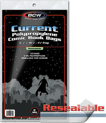 (25) BCW CUR-R Current Age RESEALABLE Comic Book Sleeve Outer Bags Covers Modern