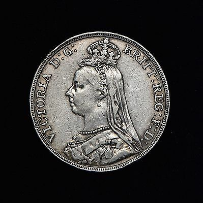 Great Britain Uk British Crown 1892 Victoria Large Silver Coin