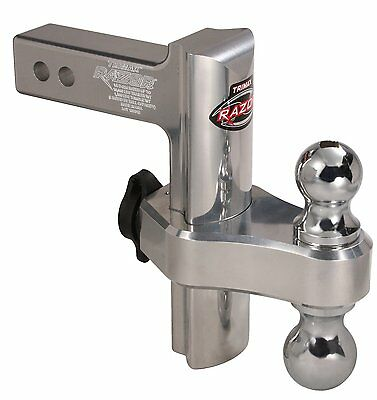Adjustable Tow Hitch Hook Trailer 8 Inch Truck Receiver Mount Dual Ball Drop