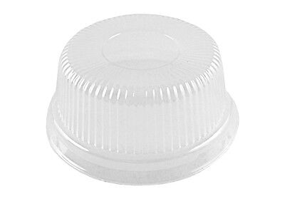 Clear High Dome Lid for 4 oz Aluminum Foil Cup Muffin/Ramekin/Utility Cup 100/PK