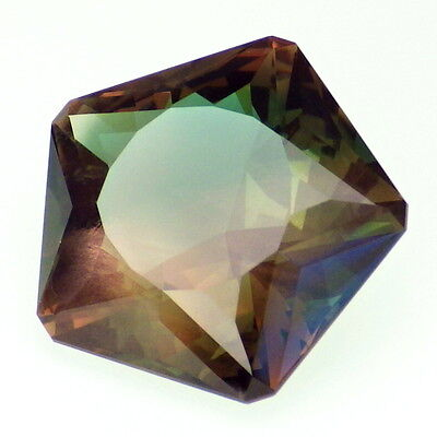 BLUE GREEN DICHROIC SCHILLER OREGON SUNSTONE 8.64Ct FLAWLESS--INVESTMENT GRADE!