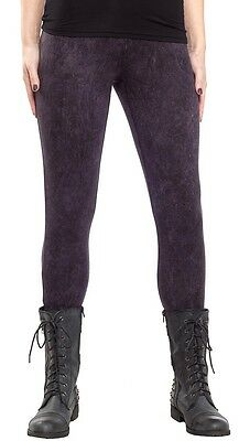 130653 Snow Washed Print Leggings Sourpuss Stretch Comfy Goth Punk Metal X-LARGE